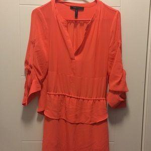Bcbgmaxazria coral 3/4 sleeve dress